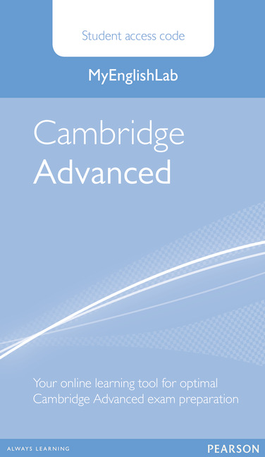 MyEnglishLab Cambridge Advanced Standalone Student Access Card